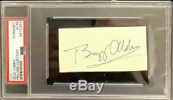 Buzz Aldrin signed Cut PSA/DNA Autograph Apollo NASA Moon Walker Slab