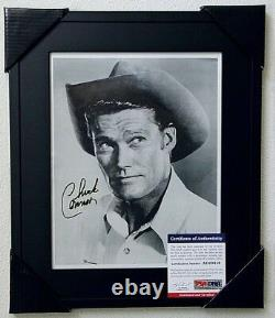 CHUCK CONNORS SIGNED 8x10 PHOTO PSA/DNA SLABBED THE RIFLEMAN AUTOGRAPHED FRAMED