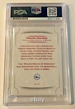 Charles Barkley Philadelphia 76ers Signed Custom Auto CARD 1/1 PSA/DNA Slabbed