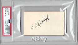 Charles Lindbergh signed cut PSA DNA Slabbed Bold Auto Aviator d. 1974 C414
