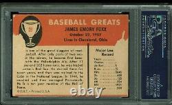 Cubs Jimmie Foxx Authentic Signed Card 1961 Fleer #28 PSA/DNA Slabbed