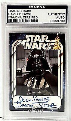 DAVE PROWSE Signed DARTH VADER Star Wars Trading Card PSA/DNA SLABBED #83699790