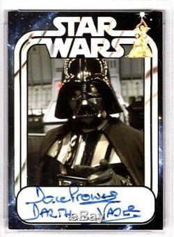 DAVE PROWSE Signed DARTH VADER Star Wars Trading Card PSA/DNA SLABBED #83699809