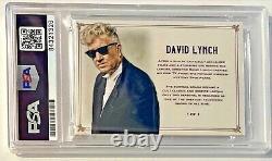David Lynch Director Twin Peaks Signed Custom Auto CARD 1/1 PSA/DNA Slabbed