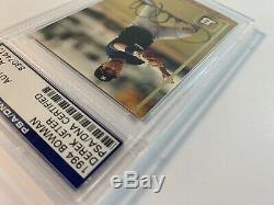 Derek Jeter NY Yankees Signed 1994 Bowman Rookie Card #633 AUTO PSA/DNA Slabbed