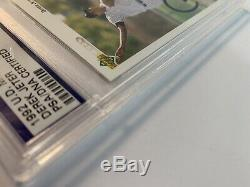 Derek Jeter Signed 1992 Upper Deck Rookie Card AUTO PSA/DNA Slabbed Mint