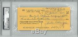 Dick York Signed Authentic Autographed Check Slabbed PSA/DNA #83855565