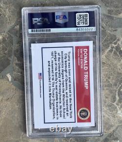 Donald Trump Signed Baseball Card PSA DNA Slabbed Encapsulated POTUS
