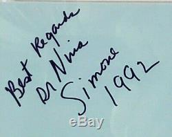 Dr. NINA SIMONE Jazz Legend Signed Autographed Index Card PSA/DNA SLABBED
