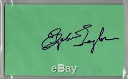 ELIZABETH TAYLOR 1976 Signed Autographed 3x5 Index Card PSA/DNA SLABBED
