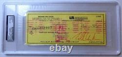 Eddie Van Halen Signed Autographed Personal Check 1983 July 7th PSA/DNA Slabbed