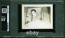 Elvis Presley Authentic Signed 2.75x3.5 Photo Autographed PSA/DNA Slabbed
