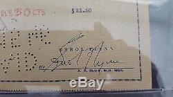 Errol Flynn PSA/DNA SLABBED HAND SIGNED AUTO AUTOGRAPH PERSONAL CHECK (10427)