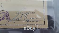 Errol Flynn PSA/DNA SLABBED HAND SIGNED AUTO AUTOGRAPH PERSONAL CHECK (10993)