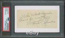 FRANK SINATRA autograph cut PSA/DNA certified/slabbed vintage signed