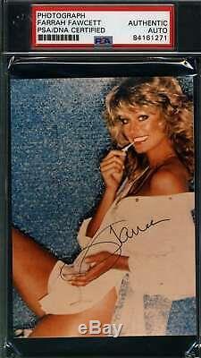 Farrah Fawcett Psa Dna Coa Autograph Iconic Photo Hand Signed Slabbed