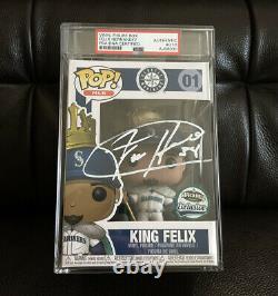 Felix Hernandez Signed King Felix Safeco Exclusive Funko Pop Psa/Dna Slabbed