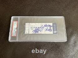 Fernando Tatis Jr Signed MLB Debut Ticket Stub Inscribed PSA/DNA SLABBED