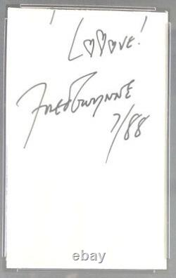 Fred Gwynne Herman Munster Signed Cut Slab Autographed PSA/DNA Authentic
