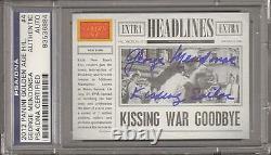 GEORGE MENDONSA Sailor WWII VJ DAY Kiss Signed Card PSA/DNA SLABBED #83536884