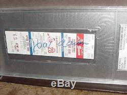 HANK AARON signed auto autographed 1982 ATLANTA BRAVES BASEBALL PSA/DNA slabbed