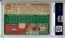 Hank Aaron 1954 Topps Vintage Signed Autographed Card PSA/DNA Slabbed #128