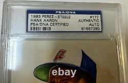 Hank Aaron Autographed Psa/dna Slabbed Perez Steele Post Card Card