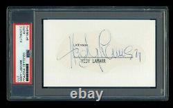 Hedy Lamarr Signed Mint Cut Autographed Psa/dna Slabbed Beautiful
