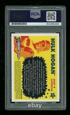 Hulk Hogan PSA/DNA Slabbed 2006 Topps Chrome Signed Autographed Auto Card Rare