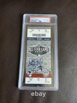 ICHIRO Signed 2001 All Star Game Ticket Stub Psa/Dna Slabbed 1st Asg + Roy/Mvp