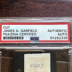 JAMES A. GARFIELD PSA/DNA Slabbed Autograph Free Frank Signed President