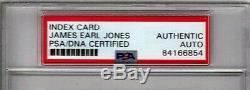 JAMES EARL JONES Darth Vader 1982 Signed 3x5 Index Card PSA/DNA SLABBED