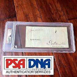 JAMES MADISON PSA/DNA Slab Cut Autograph Ships Papers Signed As President