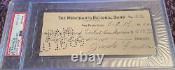 Jack London Author Autographed PSA/DNA Slabbed Check 1909 Graded NM-MT 8