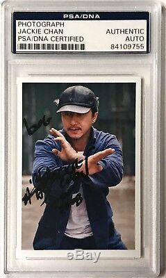 Jackie Chan The Karate Kid Movie Mr. Han Signed 2x3 Photo PSA/DNA Slabbed