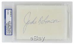 Jackie Robinson Brooklyn Dodgers Signed (Huge Auto) Slabbed Cut PSA/DNA Mint 9