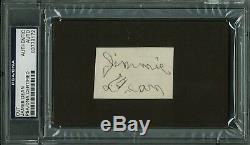 James Dean Authentic Signed 1.5x2.25 Jimmie Dean Cut Autograph PSA/DNA Slabbed