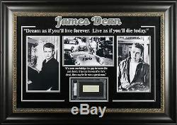 James Dean Authentic Signed & Framed 1.5x3.5 Cut Signature PSA/DNA Slabbed