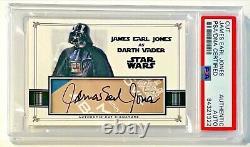 James Earl Jones Darth Vader SW Signed Custom Auto CARD 1/1 PSA/DNA Slabbed