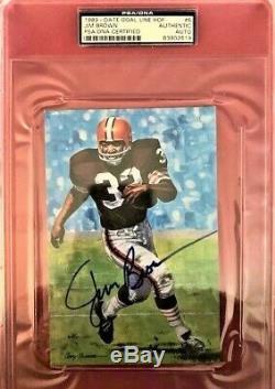 Jim Brown Signed Goal Line Art Card GLAC Autographed PSA/DNA Slab