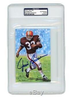 Jim Brown Signed Goal Line Art Card GLAC Autographed PSA/DNA Slab Browns MINT