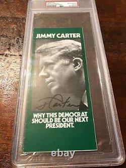 Jimmy Carter Signed Campaign Flyer Pamphlet PSA DNA Coa Slabbed President