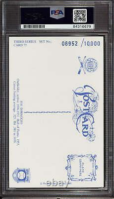 Joe DiMaggio Perez Steele HOF Postcard Signed PSA DNA Slabbed Yankees ID310590