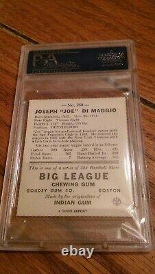 Joe Dimaggio Signed Rookie 1938 Goudey Reprint PSA DNA Slabbed! AUTO