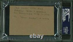Joe Louis Boxing Authentic Signed 1.75x2.75 Cut Autograph PSA/DNA Slabbed