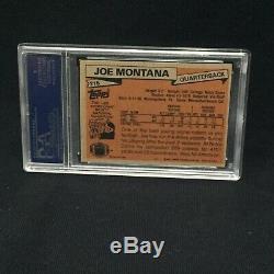Joe Montana 49ers Signed Autograph 1981 Topps Rookie Card #216 Slabbed Psa/dna