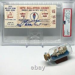 Joe Morgan signed 1972 All Star Game Ticket PSA DNA Slabbed ASG MVP HOF C249