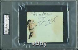 John Lennon & Paul Mccartney Authentic Signed 4X4.75 Album Page PSA/DNA Slabbed