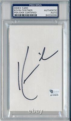 KEVIN COSTNER Single Signed Slabbed Index Card Field of Dreams GAI & PSA/DNA