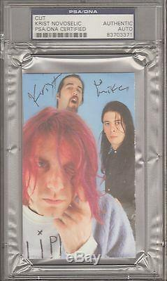 KRIST NOVOSELIC Signed Autographed NIRVANA Photo Cut PSA/DNA SLABBED #83703371